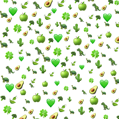 emoji background green heart avocado freetoedit