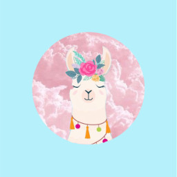 freetoedit llama cute flowerheadband