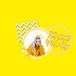 freetoedit yellow billieeilish music emojistickers