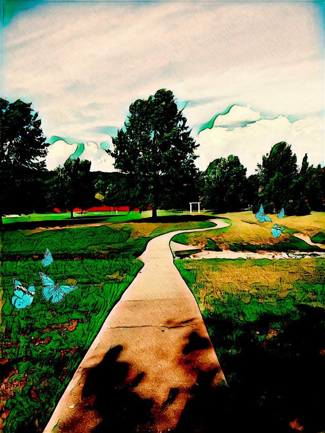 #fallynpixie #park #greenmagiceffect #butterflybrush