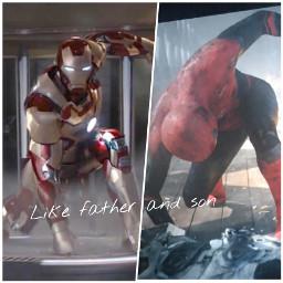 spiderman ironman fatherandson avengers marvel