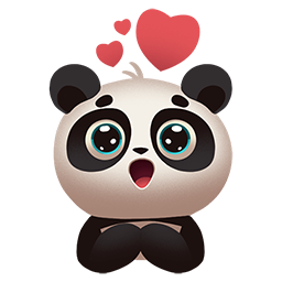 Panda Sticker By Girl