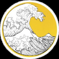 aesthetic wave vsco yellow circle freetoedit