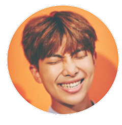 rm rapmonster circle orange leader freetoedit