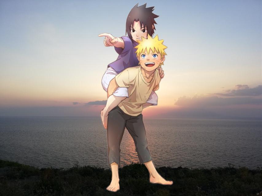 #freetoedit first time using a natural background #naruto #sasuke #sasunaru