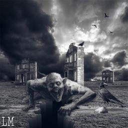 freetoedit creepy scary horror zombie