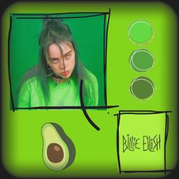 billieeilish billieeilishedits billieaesthetic green greenaesthetic