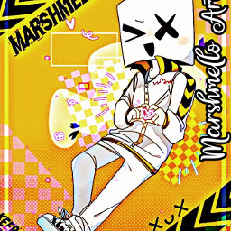 marshmello marshmellomusic marshmelloart dj djmusic freetoedit