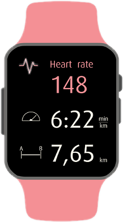 watch gps health exercise pink freetoedit