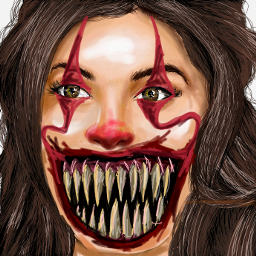 jaquelinefernendez clown itclown blood scary dcclowns