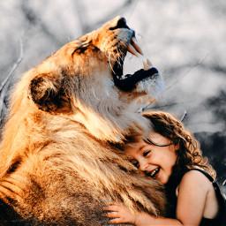 hug bigcat strong happychild trust