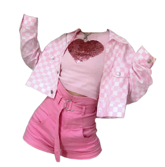 outfit outfits pink skirt heart freetoedit