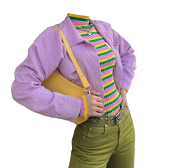 outfit outfits purple green colorful freetoedit
