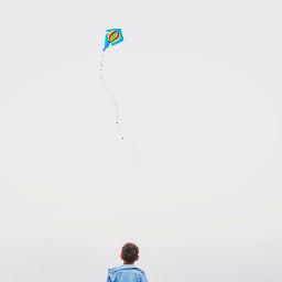 kite portrait minimalism boy freetoedit