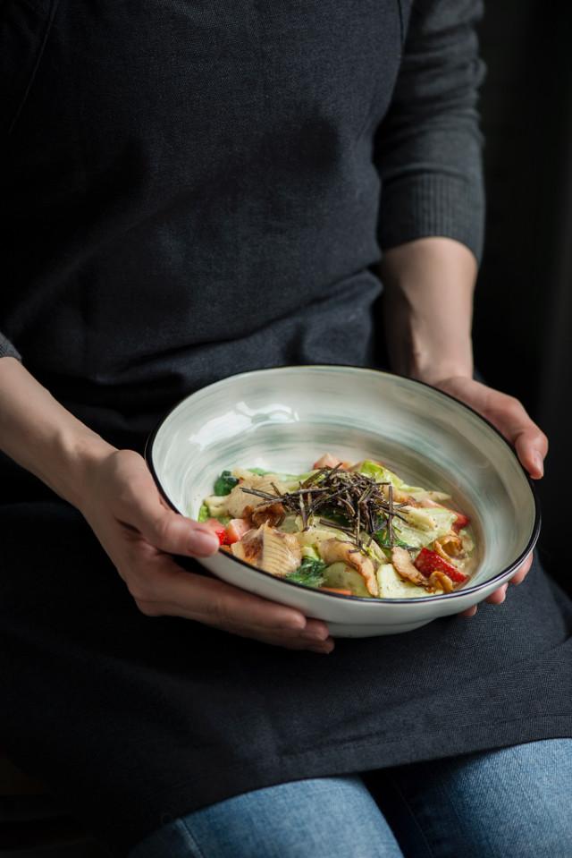 #food #foodphoto #foodphotography #salad #fish #strawberry
