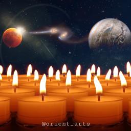 freetoedit candels nightsky moon bloodmoon