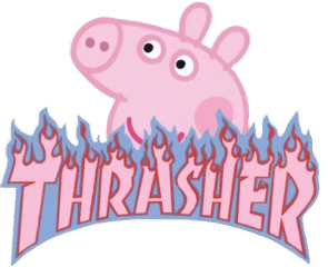 vsco aesthetic thrasher peppapig pink freetoedit