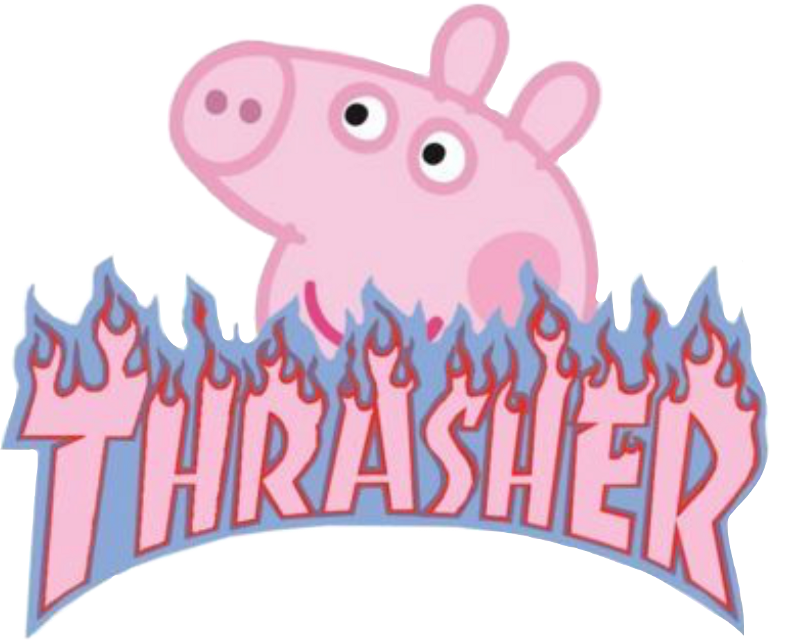 #vsco #aesthetic #thrasher #peppapig #pink #blue #freetoedit