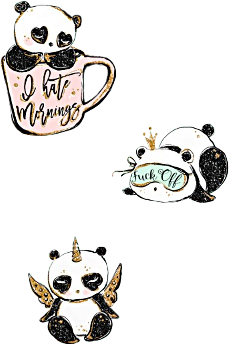 watercolor panda pandacorn unicorn coffeecup freetoedit