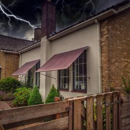 house lightning freetoedit aesthetic