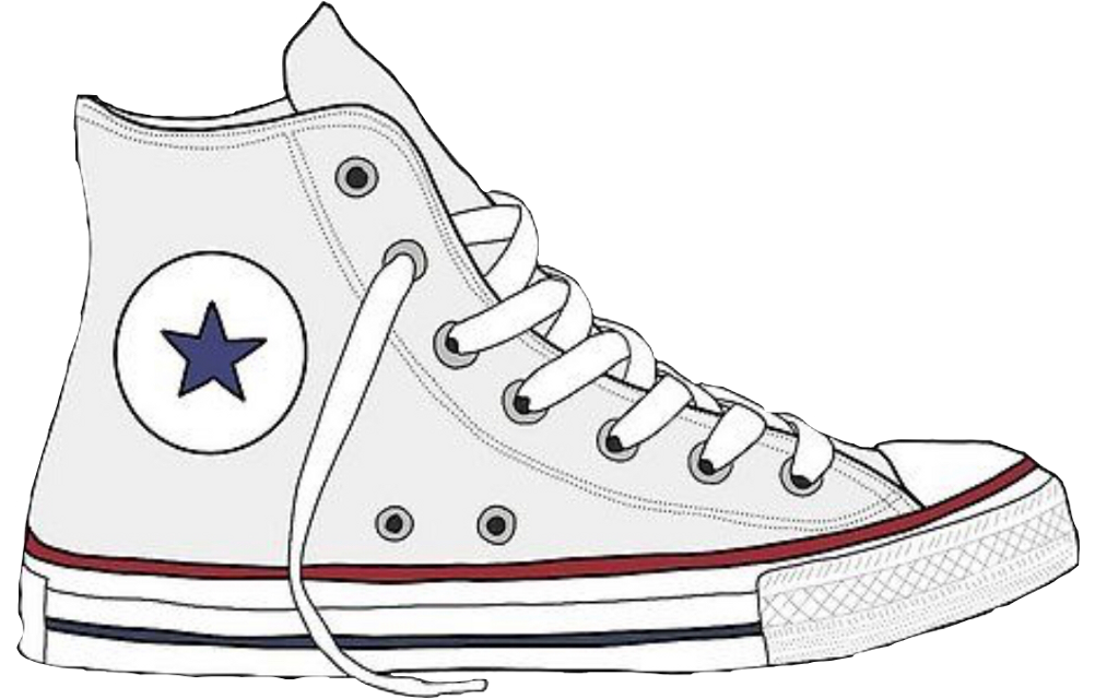 #converse #white #aesthetic #shoes #vsco #blue #red #freetoedit