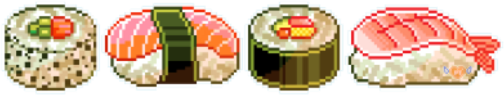 #sushi #aesthetic #pixel #food #freetoedit