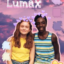 strangerthings max lucas fanart lumax freetoedit