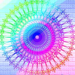 rainbowmagiceffect mandala freetoedit