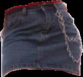 #polyvore #skirt #denim #denimskirt #chain #edgy #skirt polyvore #freetoedit