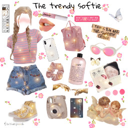 freetoedit aesthetic pink softie soft scrunchie