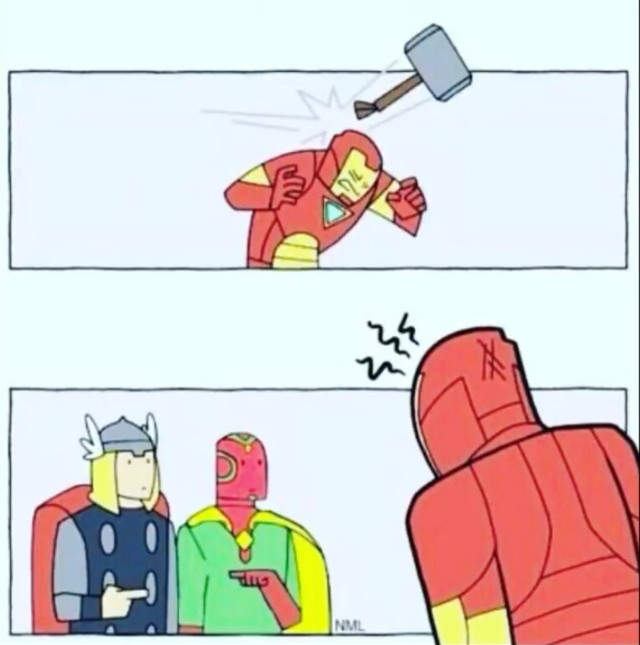 Found it on the internet😂😂😂 Tags: #thor #thorshammer #mjolnir #vision #tonystark #ironman #freetoedit