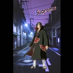 itachi itachiuchhiha supremelogo street supreme freetoedit