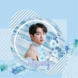 freetoedit jinyoung_got7 blueaesthetic bluesticker jinyoung