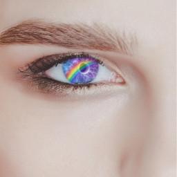 eyesgalaxy eyesrainbow freetoedit