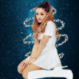 arianagrande bluegalaxy squiggle white freetoedit