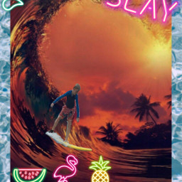 freetoedit slay text surfer wave