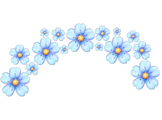 freetoedit blue flowers tumblr flowerscrown