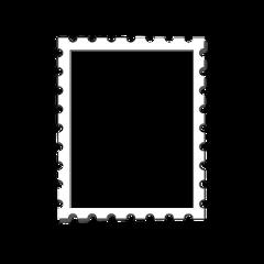 stamp postcard card art white