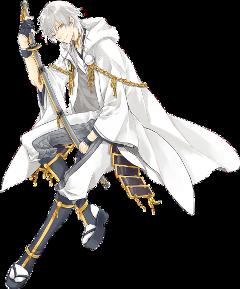 anime boy white sword toukenranbu freetoedit