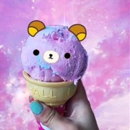 freetoedit galaxy rilakkuma icecream cottoncandy