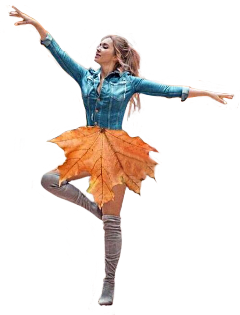 dancing dance leaf leaves girl freetoedit