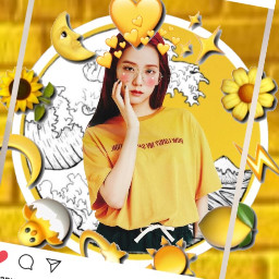 jisoo kpop korea yellow aeshtetic freetoedit