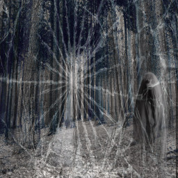 freetoedit creepy forest ghosty sightings