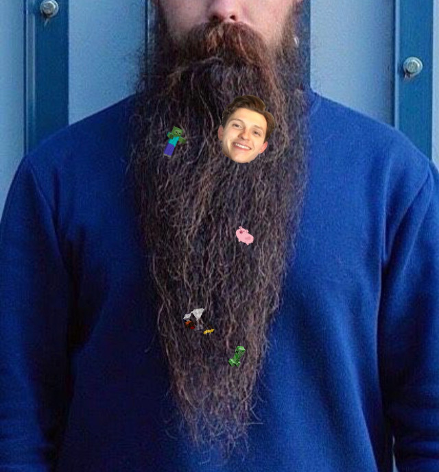 #freetoedit you never know what to find in a beard