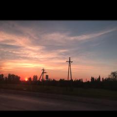 фон стикер закат солнце небо freetoedit