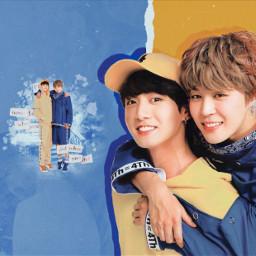 blueyellowmochi bts kpop blue yellow