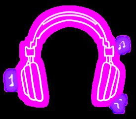 freetoedit headphone music musicnotes neon scmyheadphones