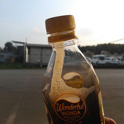 coffee blackcoffee bottle sunsettime afterwork