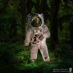 ircspacereflection spacereflection freetoedit astronaut forest
