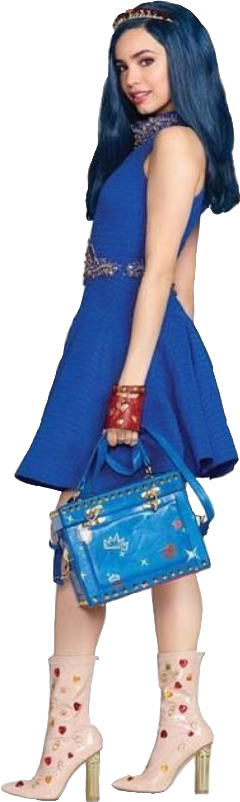 evie bluedress bluepurse redgloves nudeboots freetoedit